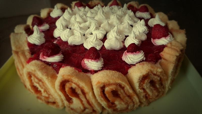 Recepti - Rolat torta s malinama